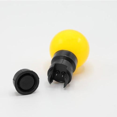 Lichtsnoer met vastgelijmde priklampen (geen E27 fitting)- mix van 5 kleuren