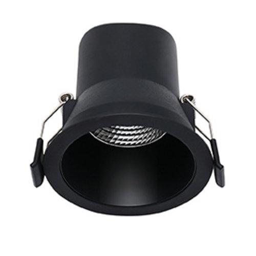 LED spot Miracle zwart, dimbaar, 6 watt, 3000K