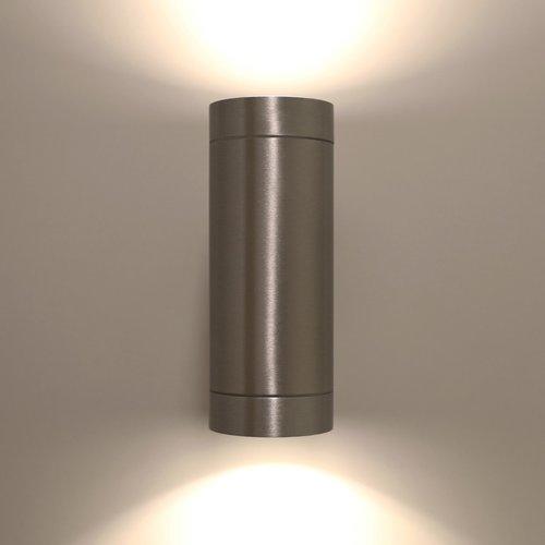 Wandlamp Alu up/down geborsteld