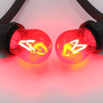 Prikkabel set met gekleurde dimbare filament LED lampen