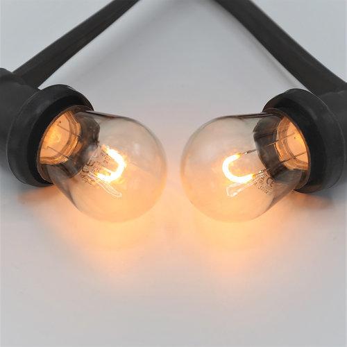 Prikkabel set met 0,6 watt U-vorm LED filament lampen