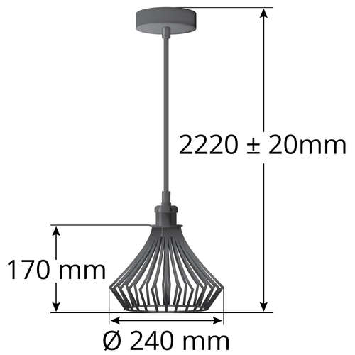 Hanglamp Kiki - excl. lichtbron