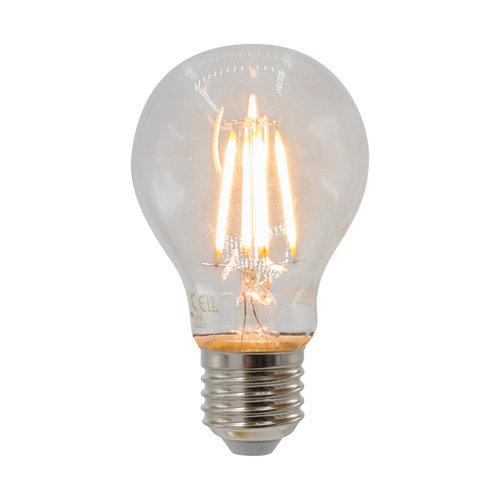 4,5W & 7W  filament lamp, 2700K, helder glas Ø60, 3-staps dimbaar