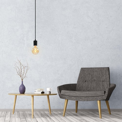5W croissant spiraal lamp XL, 1800K, amber glas Ø95 - dimbaar