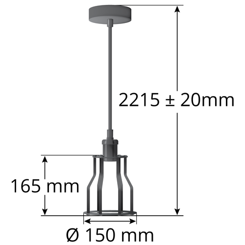 Hanglamp Diego incl. 3-staps dimbare lamp
