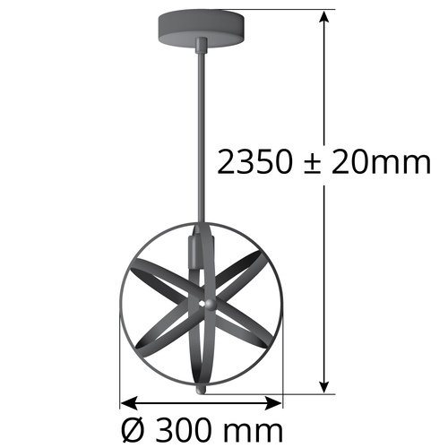 Hanglamp Anna incl. 3-staps dimbare lamp