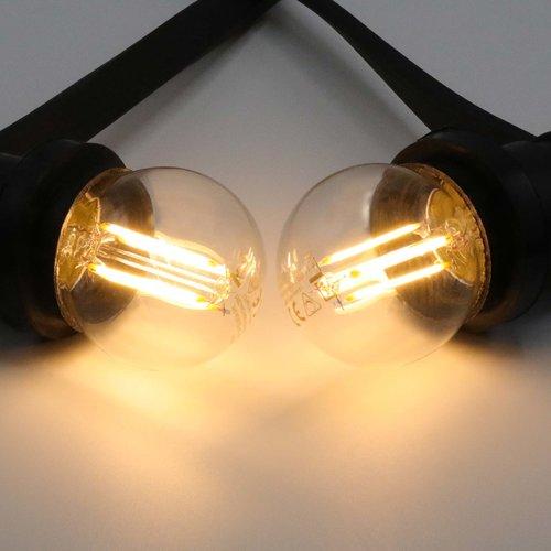 2,5W & 4,5W filament lamp, 2700K, helder glas Ø45 - dimbaar
