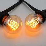 5W DNA spiraal lamp, 1800K, amber glas Ø60 - dimbaar