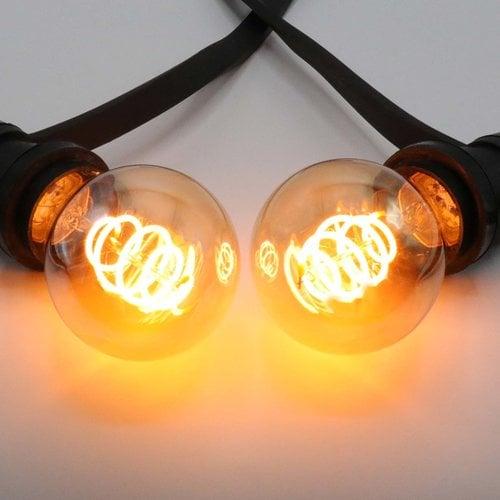 5W croissant spiraal lamp, 1800K, amber glas Ø60 - dimbaar