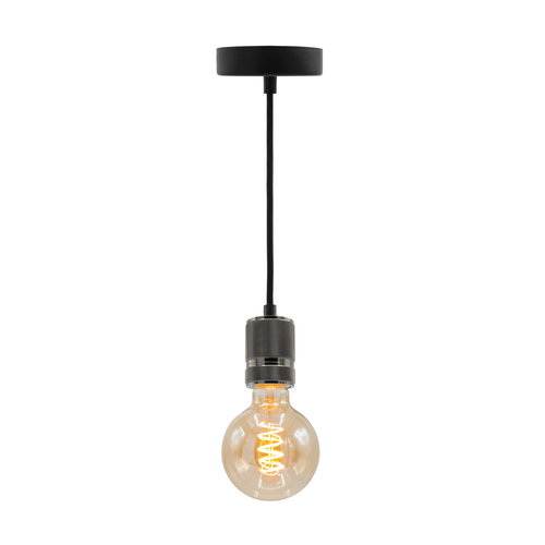 5W spiraal lamp XL, 1800K, amber glas Ø95 - dimbaar