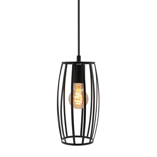 Hanglamp Maya incl. 5W spiraal lamp, amber glas, 1800K, Ø60