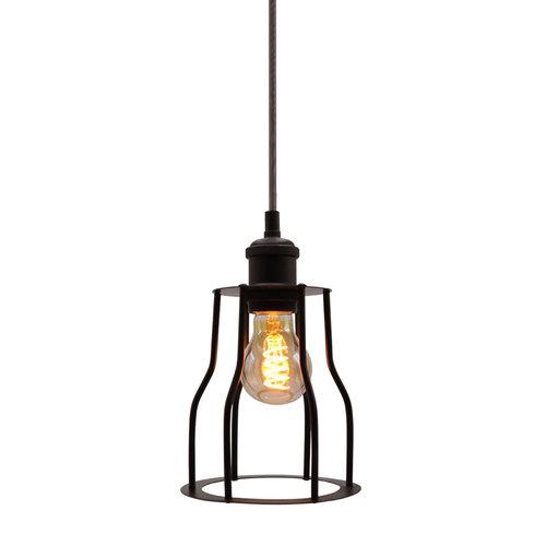 Hanglamp Diego incl. 5W spiraal lamp, amber glas, 1800K, Ø60