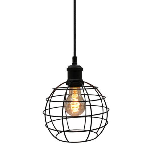 Hanglamp Hugo incl. 5W spiraal lamp, amber glas, 1800K, Ø60