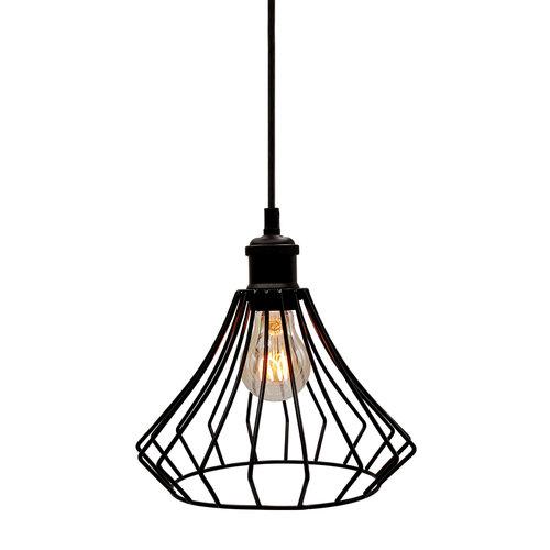 Hanglamp Kiki incl. 5W spiraal lamp, amber glas, 1800K, Ø60