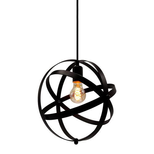 Hanglamp Anna incl. 5W spiraal lamp, amber glas, 1800K, Ø60