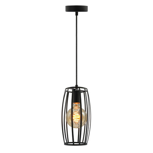 Hanglamp Maya incl. 5W spiraal lamp, amber glas, 1800K, Ø95