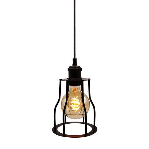 Hanglamp Diego incl. 5W spiraal lamp, amber glas, 1800K, Ø95
