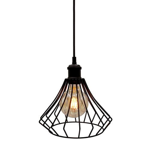 Hanglamp Kiki incl. 5W spiraal lamp, amber glas, 1800K, Ø95