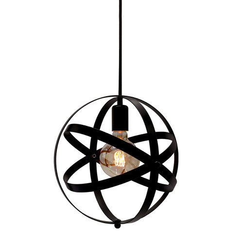 Hanglamp Anna incl. 5W spiraal lamp, amber glas, 1800K, Ø95