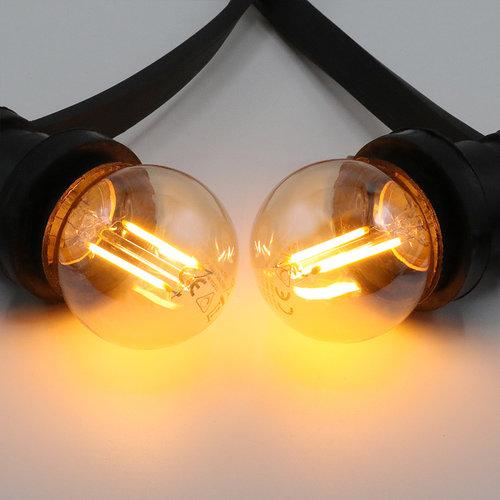 Prikkabel set met 2,5W lamp, 2000K, Ø45, amber glas