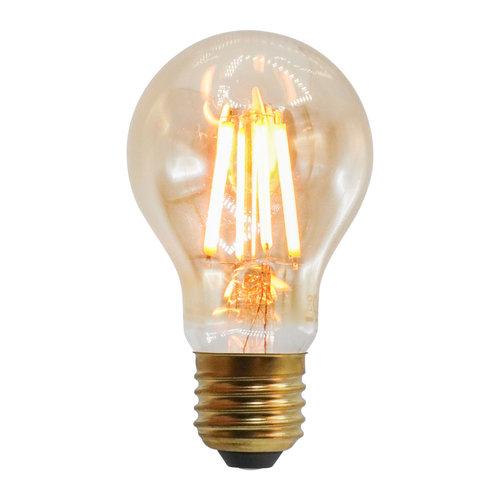 2,5W, 4,5W, 7W & 10W filament lamp, 2000K, amber glas Ø60 - dimbaar
