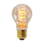 Prikkabel set met 5W spiraal lamp, 1800K, amber glas, Ø60 - excl. dimmer