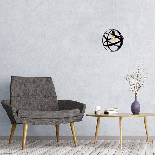 Hanglamp Anna incl. lamp 2,5W tot 10W, amber glas, 2000K, Ø60