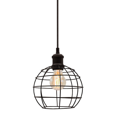Hanglamp Hugo incl. lamp 2,5W tot 10W, amber glas, 2000K, Ø60