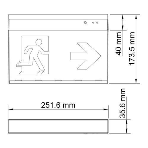 Opbouw noodverlichting LXL-MF-3