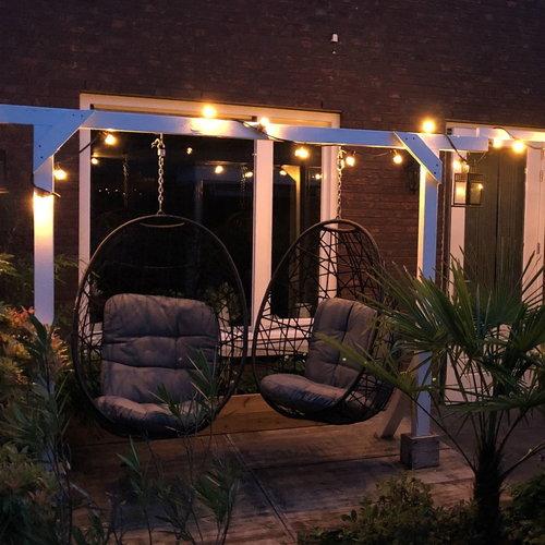 Lichtsnoer voor buiten van 95,5 meter met 200 extra warm witte LED lampen