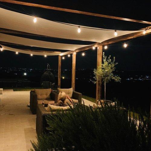 Lichtsnoer voor buiten van 10 meter met 20 extra warm witte LED lampen