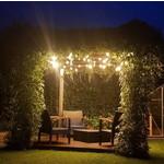 Lichtsnoer voor buiten van 28 meter met 60 extra warm witte LED lampen