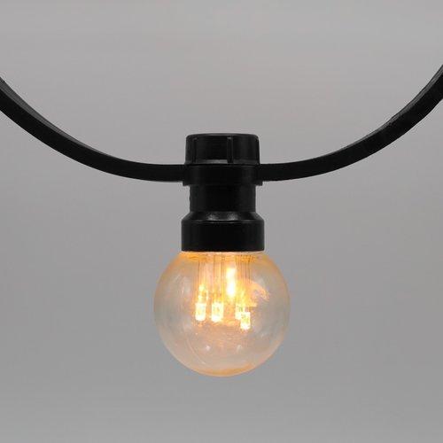 Lichtsnoer voor buiten van 57,5 meter met 120 extra warm witte LED lampen
