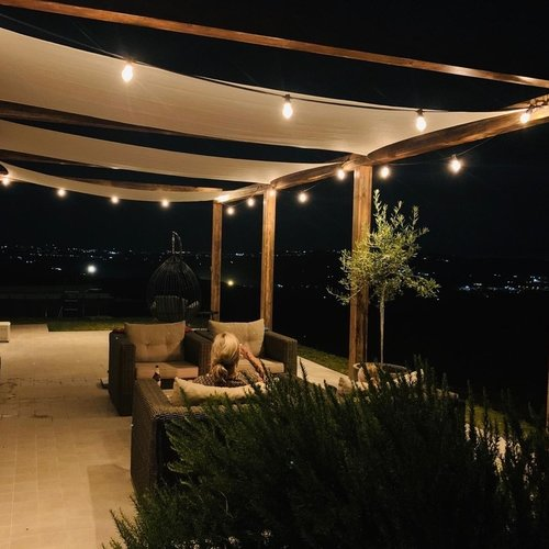 Lichtsnoer voor buiten van 72 meter met 150 extra warm witte LED lampen