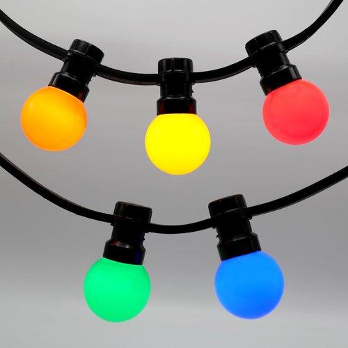 Feestverlichting voor buiten van 37 meter met 80 gekleurde LED lampen