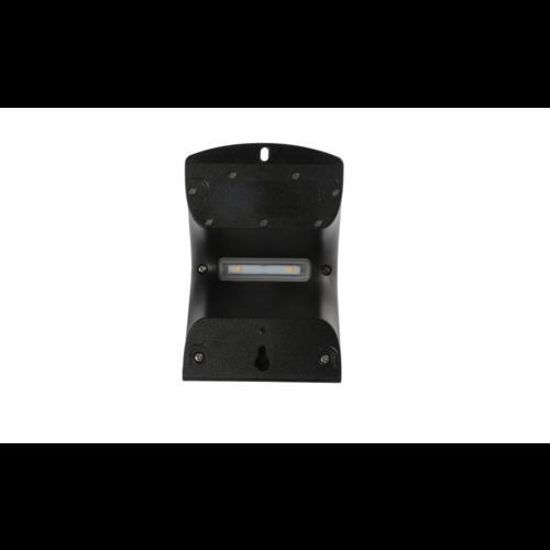 Solar wandlamp Alien 1,5W met sensor - zwart