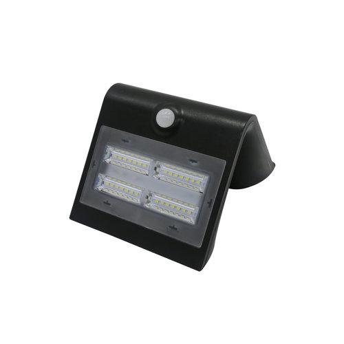 Solar buitenwandlamp Single Conan 3,2W met sensor - zwart