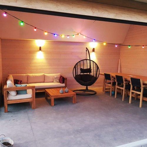 Feestverlichting voor buiten van 95,5 meter met 200 gekleurde LED lampen