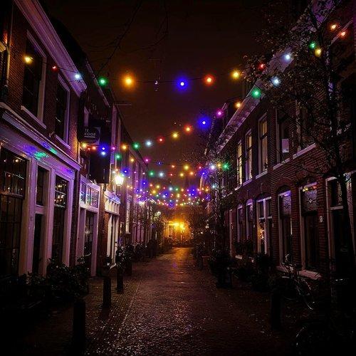 Feestverlichting voor buiten van 34 meter met 70 gekleurde LED lampen