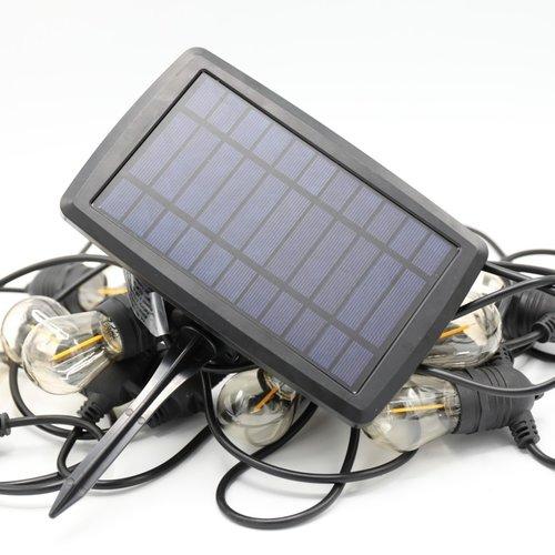 Solar lichtsnoer met 12 lampjes - 8 meter