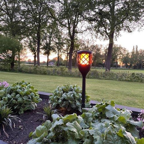 Solar tuinfakkel Torch 2W met vlameffect