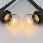 Prikkabel set met 1 watt, dimbare U-vorm LED filament lampen