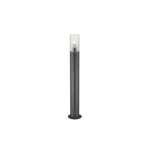 RVS staande buitenlamp  Stella zwart, 80 cm