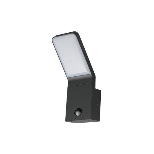 Zwarte wandlamp Franco met sensor