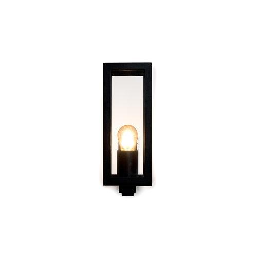 RVS moderne zwarte wandlamp met glas - Carlo