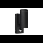 Moderne wandlamp rond Cathy met sensor 2 x 3W LEDs - antraciet