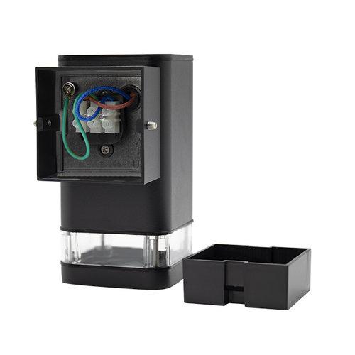 Moderne vierkante wandlamp Marino, zwart
