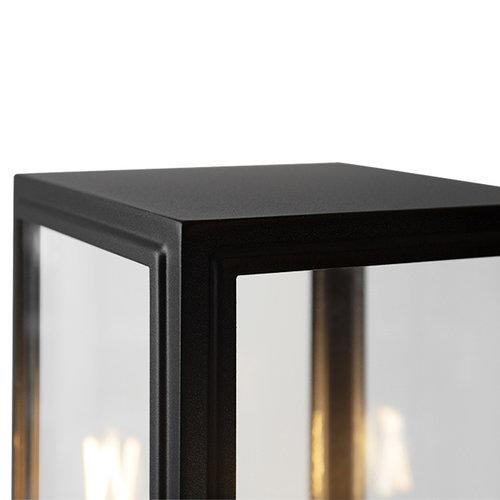 Industriële RVS staande buitenlamp Giovanni - zwart