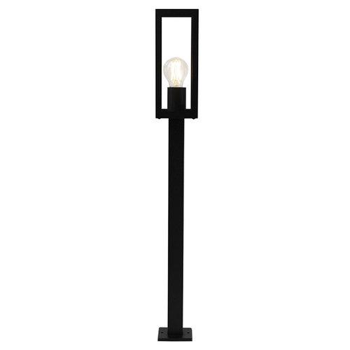 Industriële RVS zwarte buitenlamp Alessio met glas, 80 cm