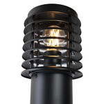 RVS zwarte buiten vloerlamp Elia, 50 cm